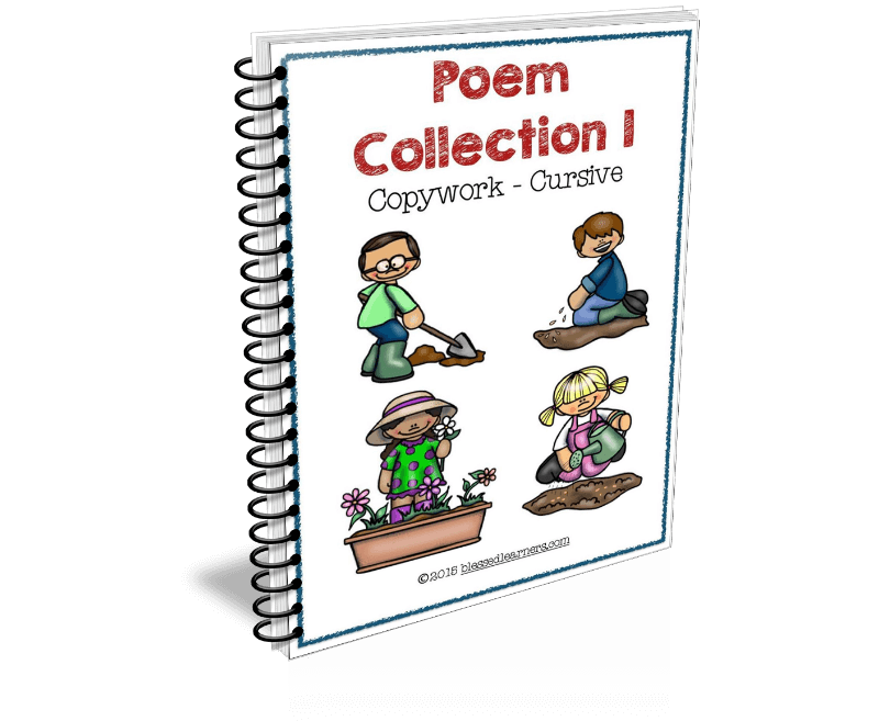 Poem Collection Copywork consists of 8 poems in a pack. They are formated into 4 sets of copywork in the packs.