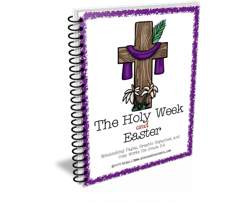 The Holy Week and Easter Notebooking Pages package has 40 layouts that help learners to research and record their study about Easter and The Holy Week.