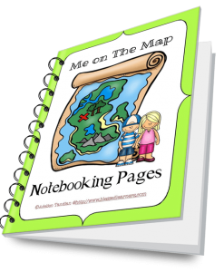 Me On the Map Notebooking Pages